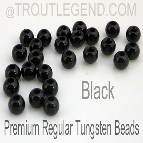 Black Tungsten RegularBore/Cyclops Beads (25packs)