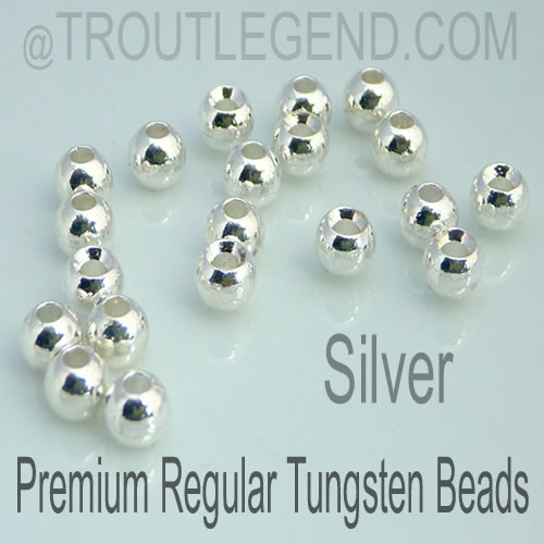 Silver Tungsten RegularBore/Cyclops Beads (25packs)