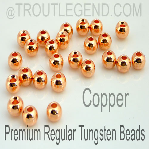Copper Tungsten RegularBore/Cyclops Beads (25packs)