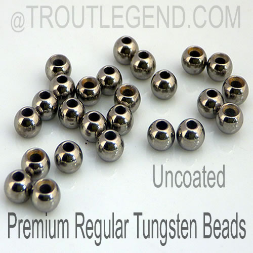 Uncoated Tungsten RegularBore/Cyclops Beads (25packs)