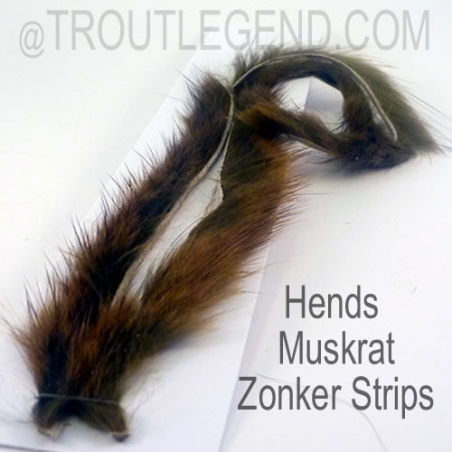 Hends Muskrat Zonker Strips 2.5mm