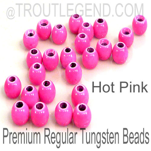 Hot Pink Tungsten RegularBore/Cyclops Beads (25packs)