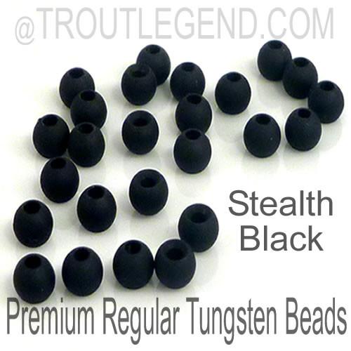 Stealth Black Tungsten RegularBore/Cyclops Beads (25packs)