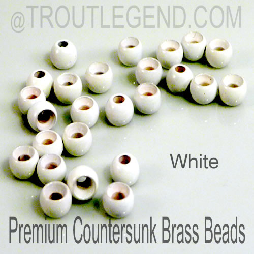 White Brass CounterSunk TroutLegend Beads (25packs)