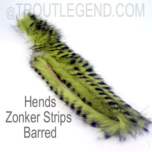 Hends Barred Zonker Strips 4mm