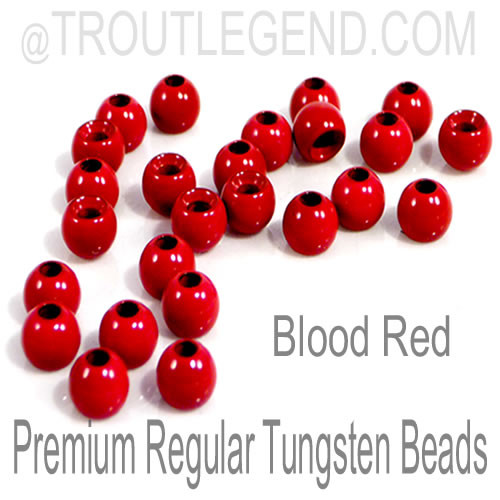 Blood Red Tungsten RegularBore/Cyclops Beads (25packs)