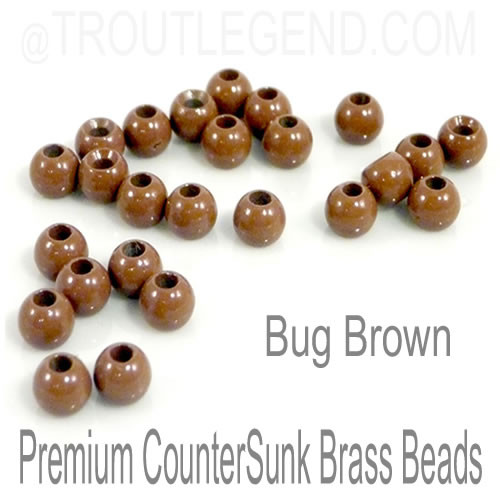 Bug Brown Brass CounterSunk TroutLegend Beads (25packs)
