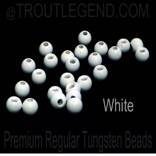 White Tungsten RegularBore/Cyclops Beads (25packs)