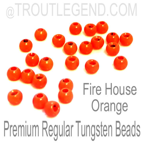 Fire House Orange Tungsten RegularBore/Cyclops Beads (25packs)