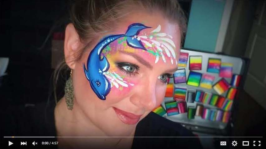 Dolphin Face Painting by Lisa Joy Young
