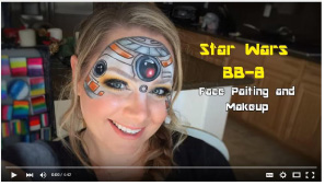 Star Wars BB-8 Face Painting