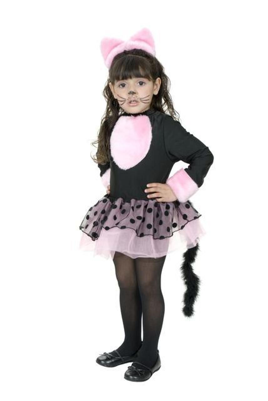 Miss Kitty Pink Cat Girls Toddler Pink Tutu Dress Childs Halloween Costume 2t 4t