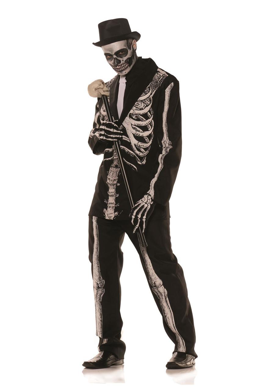 a0e5ee9603ef Mens Bone Daddy Skeleton Suit Costume - CostumeVille
