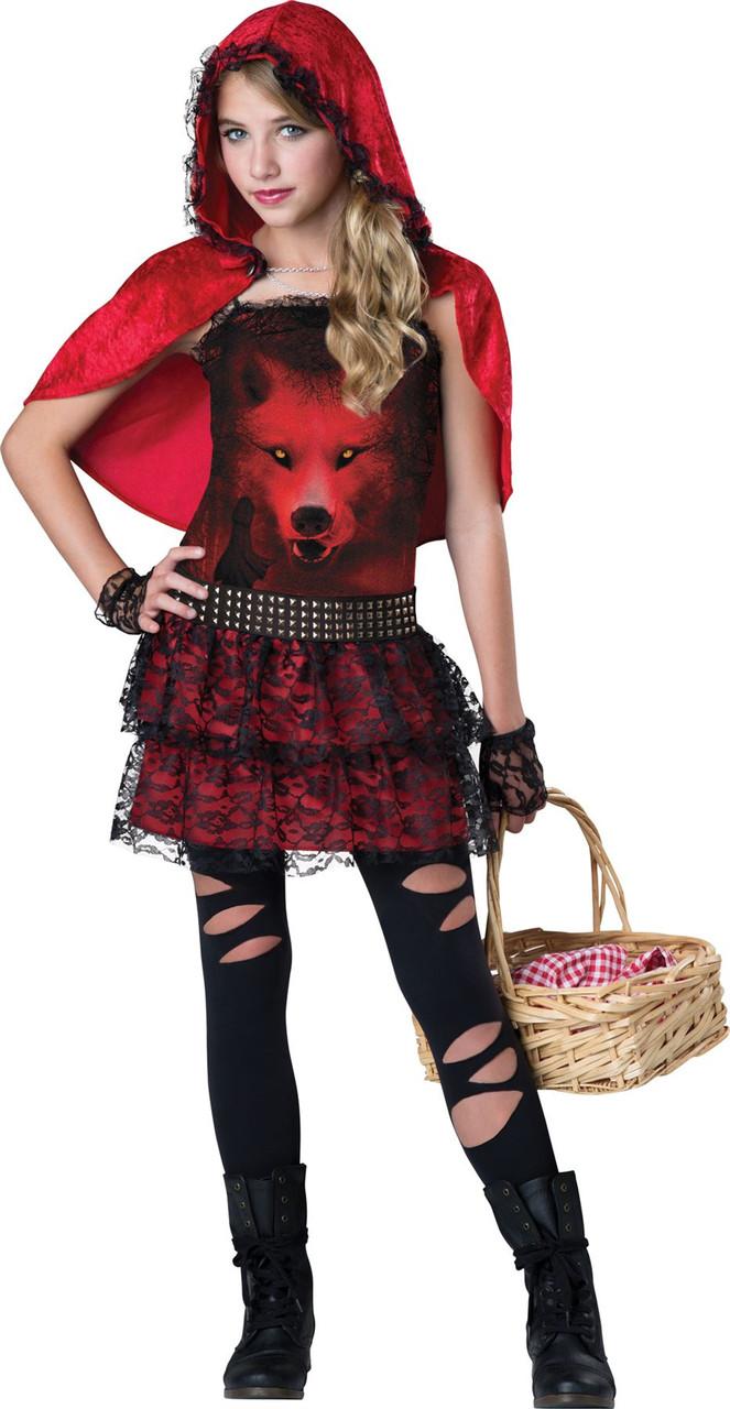 Gothic Little Red Riding Hood Costume Tween Costumeville