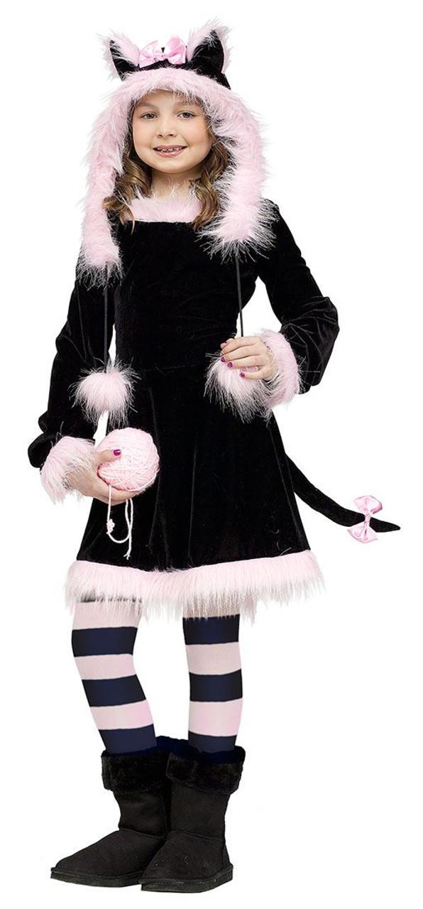 Pretty Kitty Cat Animal Toddler Girls Kids Halloween Costume Child Small 4 6