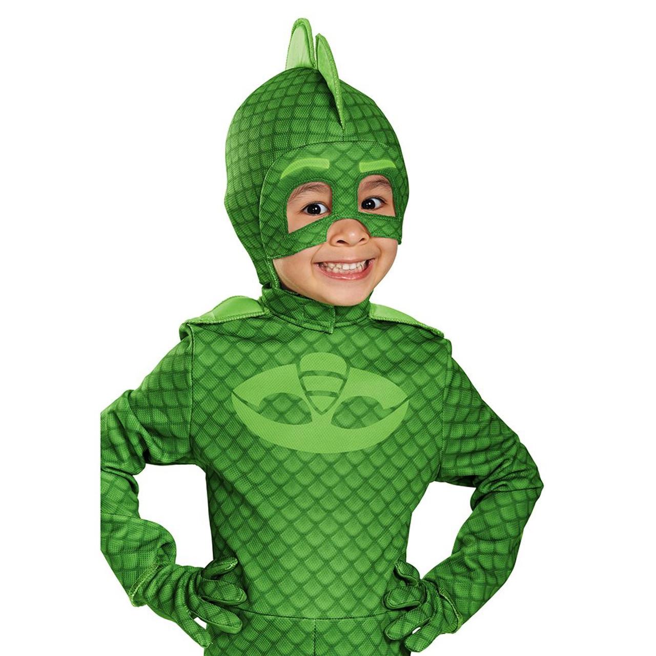 Pj Masks Halloween Costume.Gekko Deluxe Mask Pj Masks Disney Superhero Kids Boys Halloween Costume Mask