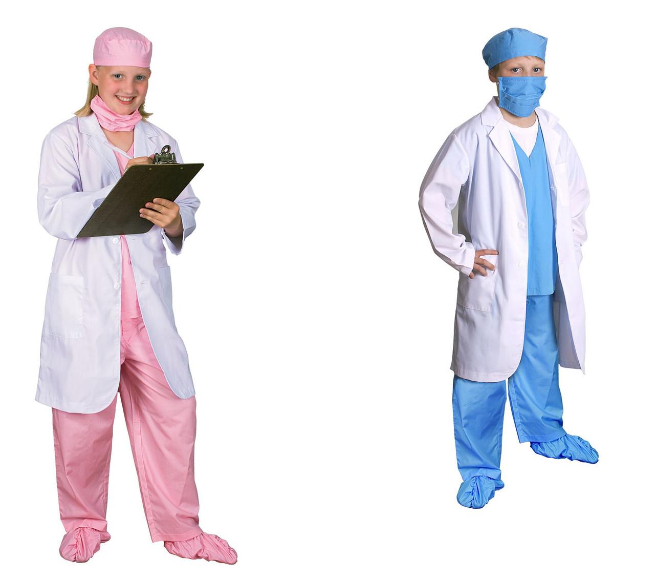 Jr Physician Coat Career Surgeon Doctor Boys Girls Halloween Costume