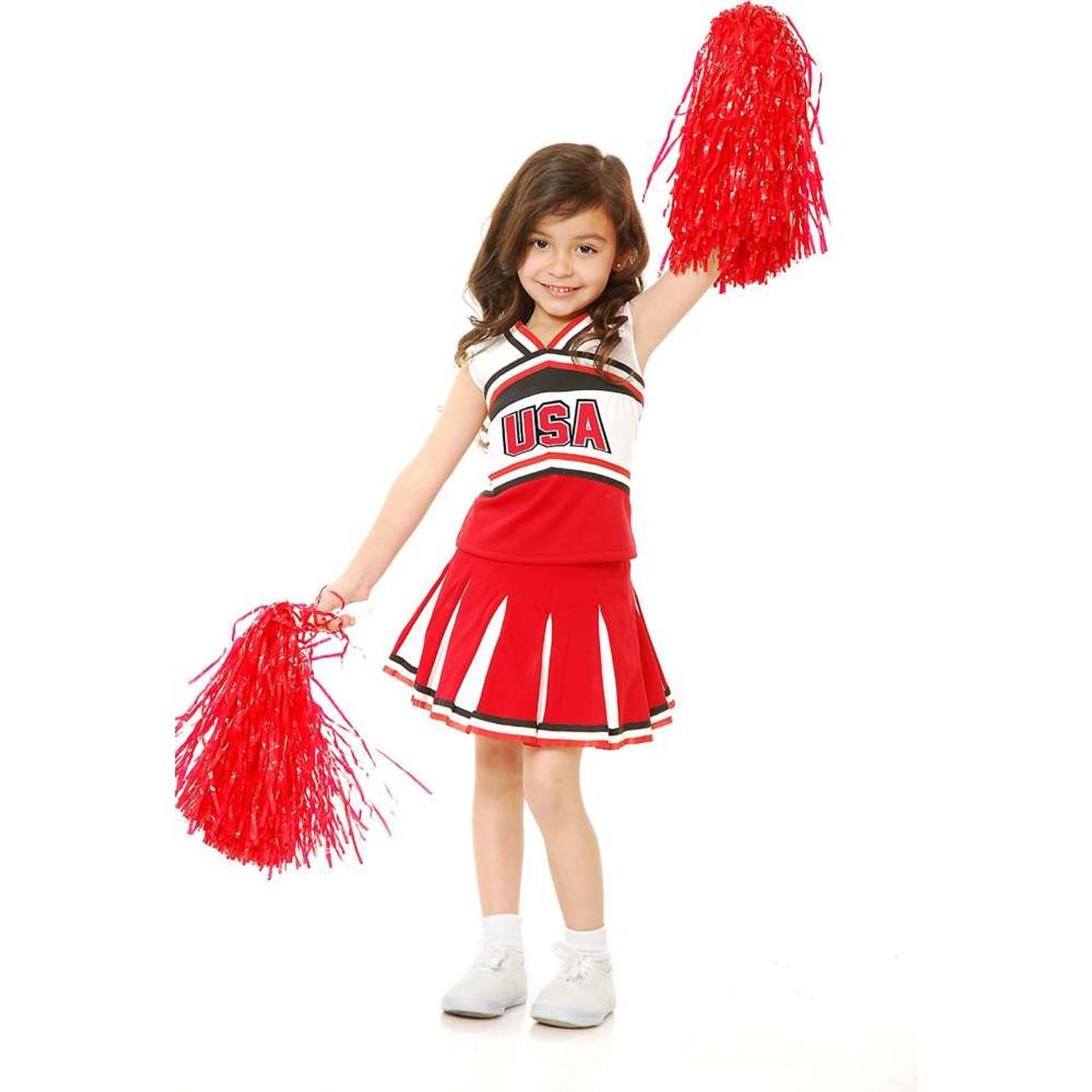 fe3f220b312 Girls USA Cheerleader Costume