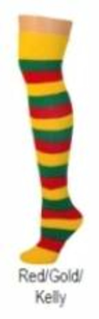 red gold kelly striped halloween ADULT SOCKS costume