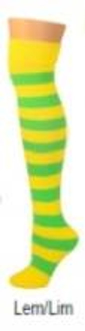 Lemon & lime striped  tube ADULT SOCKS costume