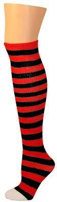 red black STRIPES ragdoll KIDS SOCKS costume halloween