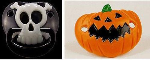PUMPKIN & PIRATE PACIFIER baby boys girls halloween costume infant pacifiers set