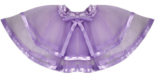Lavender Pettiskirt girls fairy princess kids butterfly costume accessory 3-8