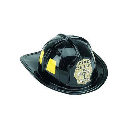 Jr. Fire Fighter Helmet Black, Costume Accessory Child One Size