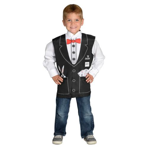 Magician vest career dress up boys kids toddler halloween costume ages 3 5