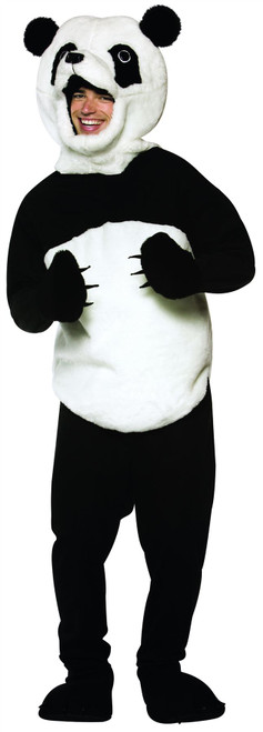 Panda adult funny mens womens Mascot animal zoo halloween costume ONE SIZE