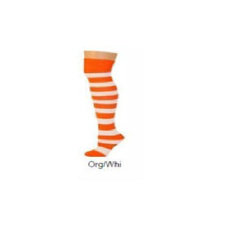 orange white halloween stripe  tube ADULT SOCKS costume