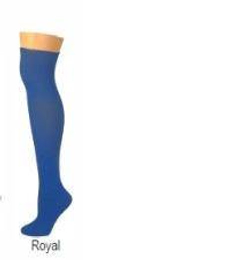 solid ROYAL BLUE acrylic halloween ADULT SOCKS costume