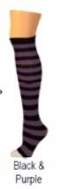 black purple punk  STRIPES halloween KIDS SOCKS costume