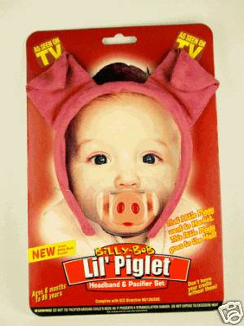 PIGLET HEADBAND & PACIFIER baby infant pig set costume girls boys shower gift