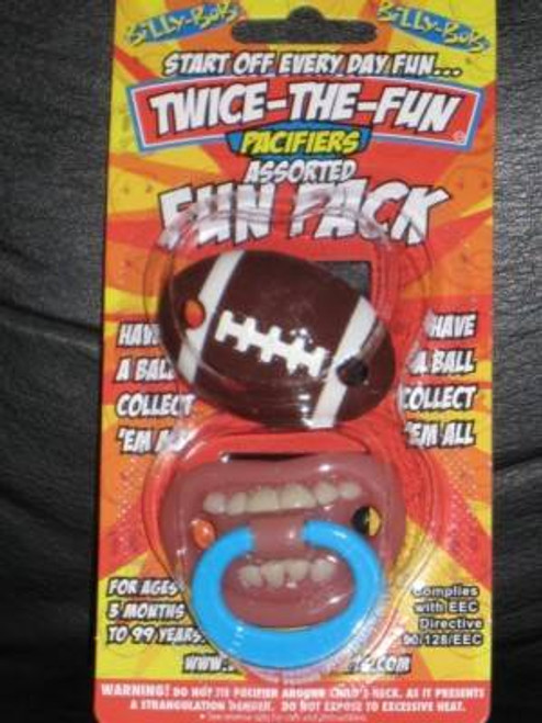 FOOTBALL & THUMB SUCKER PACIFIER 2 pack baby boys teeth infant sports gift