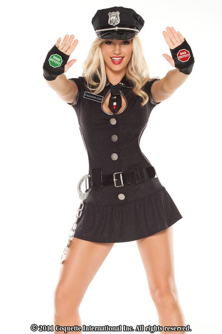 COP sexy dress police womens adult halloween costume XS