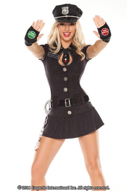 COP sexy dress police womens adult halloween costume XS