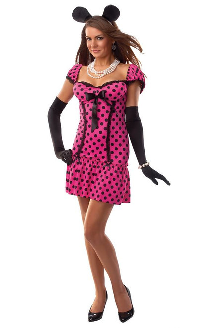 MINNIE MOUSE polka dot sexy women adult costume S M