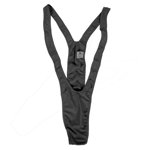 Black MANKINI thong mens adult funny halloween costume