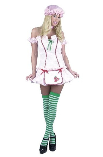 4pc STRAWBERRY SHORTCAKE sexy halloween costume L