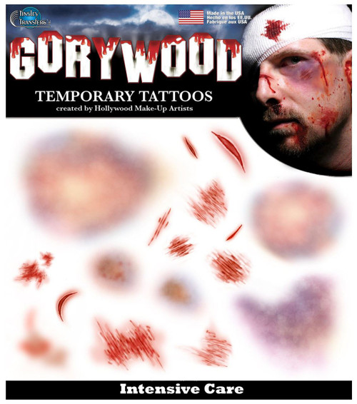 Tinsely Transfers Bruises & Scraps & Cuts Temporary Tattoo FX makeup