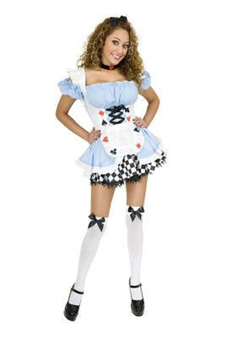 ALICE IN WONDERLAND halloween costume adult womens L