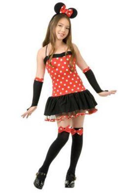 MISS MOUSE MINNIE dress girls halloween costume XS
