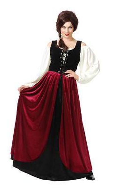 TAVERN MAID wench adult womens renaissance costume M