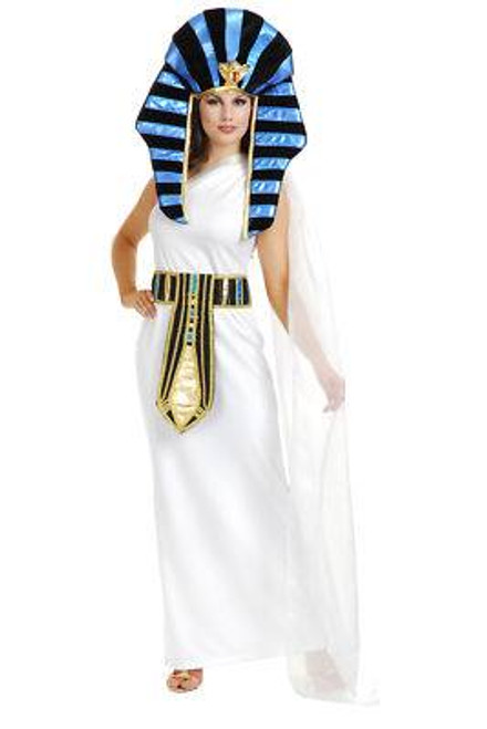 white NEFERTITI egpytian cleopatra womens costume XL
