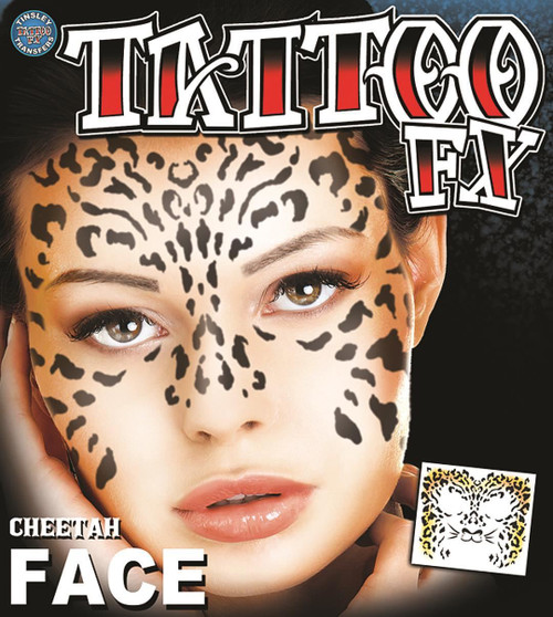 Cheetah Face Temporary Tattoo Tinsley Transfers