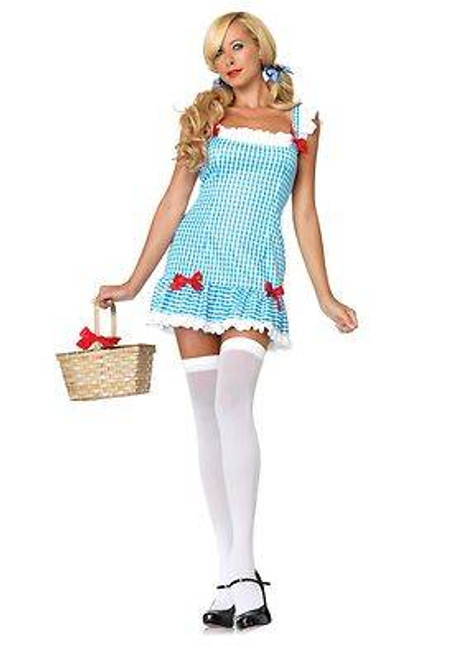 DOROTHY wizard oz womens halloween sexy gingham dress costume S/M 4-8