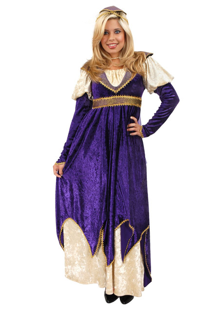 MAIDEN OF VERONA juliet renaissance purple gown halloween costume adult MEDIUM