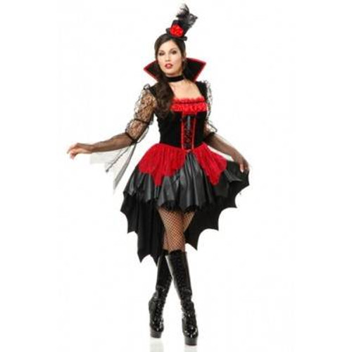 VAMPIRESS vamp vampire goth ball gown sexy adult womens halloween costume MEDIUM