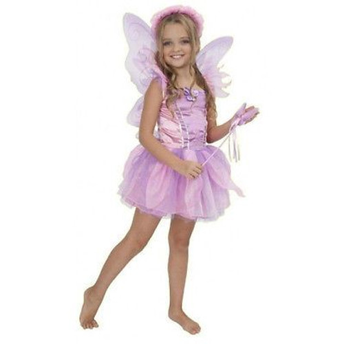 ORCHID FAIRY pink princess garden nymph girls toddler halloween costume XS 4-6